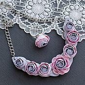 Комплект украшений Ранункулюс пыльный розовый