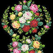 """Материалы для творчества ручной работы. Ярмарка Мастеров - ручная работа Схема вышивки """"Садовые розы"""". Handmade."""