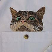 Для дома и интерьера ручной работы. Ярмарка Мастеров - ручная работа Коты в кармане_2. Handmade.