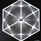 """Для дома и интерьера handmade. Livemaster - original item Настенные часы """"Геометрия"""" металл. Handmade."""