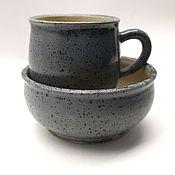 Посуда ручной работы. Ярмарка Мастеров - ручная работа Керамическая посуда - набор для завтрака. Handmade.