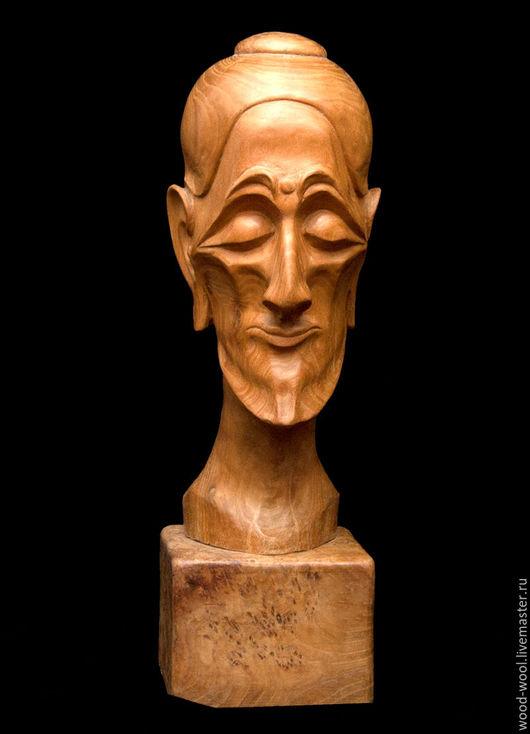 """Статуэтки ручной работы. Ярмарка Мастеров - ручная работа. Купить Скульптура из дерева """"Аскет"""". Handmade. Коричневый, дерево, карагач, человек"""