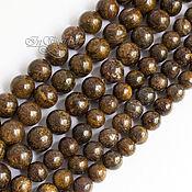 Бусины ручной работы. Ярмарка Мастеров - ручная работа Бронзит бусины 8 10 и 12 мм шар - камни для украшений. Handmade.