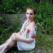Одежда ручной работы. Ярмарка Мастеров - ручная работа ажурное  летнее платье  Маки. Handmade.