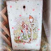 Подарки к праздникам ручной работы. Ярмарка Мастеров - ручная работа Доска  Завтра с кроликом Питером. Handmade.