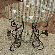 Для дома и интерьера handmade. Livemaster - original item Wrought iron coffee table (double glass). Handmade.