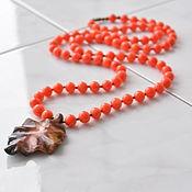 Украшения handmade. Livemaster - original item Beads coral pendant of Jasper WALTZ BOSTON. Handmade.