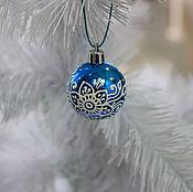 Подарки к праздникам ручной работы. Ярмарка Мастеров - ручная работа Маленький новогодний шар. Handmade.
