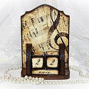 """Канцелярские товары ручной работы. Ярмарка Мастеров - ручная работа Вечный календарь """"Музыка"""". Handmade."""