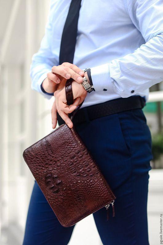 Мужские сумки клатчи из натуральной кожи купить