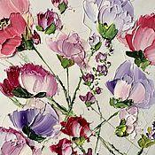 Картины и панно handmade. Livemaster - original item Tea roses ash pink flowers oil painting buy. Handmade.