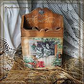"""Для дома и интерьера ручной работы. Ярмарка Мастеров - ручная работа Ключница """"Милый дом"""". Handmade."""