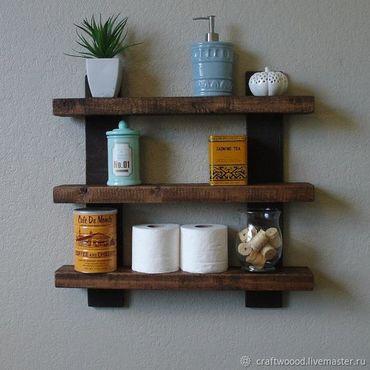 Для дома и интерьера ручной работы. Ярмарка Мастеров - ручная работа Полка в ванную. Handmade.