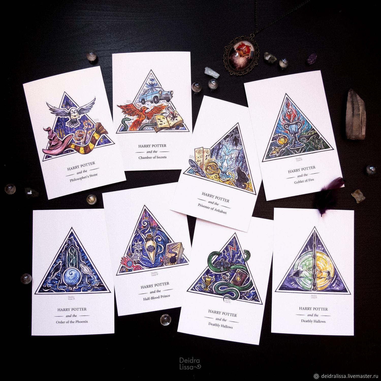 Открытки на все случаи жизни ручной работы. Ярмарка Мастеров - ручная работа. Купить Серия открыток по вселенной Гарри Поттера. Handmade.