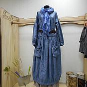 Одежда ручной работы. Ярмарка Мастеров - ручная работа Платье Монвизо, 100% лен, Италия, стиль бохо. Handmade.