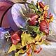 """Цветы ручной работы. Ободок """"Желтые лилии"""". Михеева (Лядова ) Ирина (mikha207). Ярмарка Мастеров. Авторская ручная работа"""