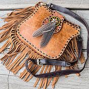 Сумки и аксессуары handmade. Livemaster - original item Bag genuine leather Boho. Handmade.