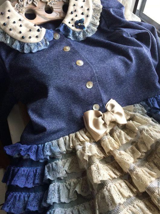 Одежда для девочек, ручной работы. Ярмарка Мастеров - ручная работа. Купить Платье ПЛТ 2046. Handmade. Голубой, винтажный стиль