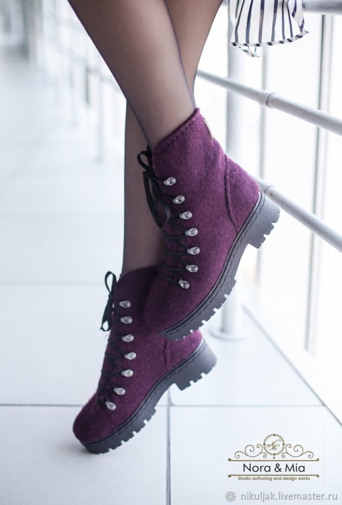 Shoes women's felted Ripe Plum, Boots, Dnepropetrovsk, Фото №1