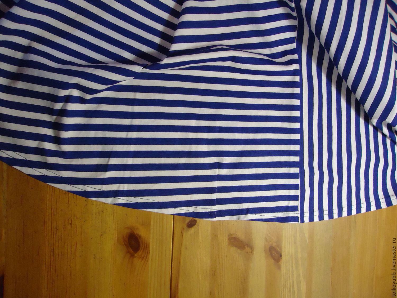 Шитье юбки в полоску