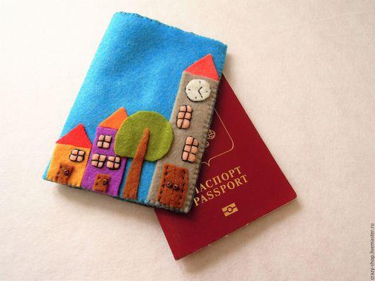 Обложка для паспорта `Городок`