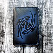 Канцелярские товары handmade. Livemaster - original item Passport cover Fish. Handmade.