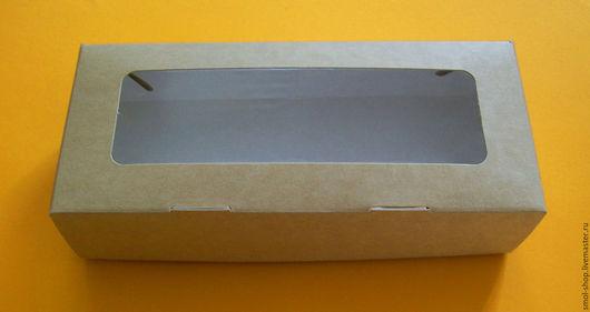 Упаковка ручной работы. Ярмарка Мастеров - ручная работа. Купить крафт - коробки 17 на 7 на 4 см. Handmade. Коричневый