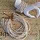 Авторские украшения из натурального жемчуга красивый модный браслет и колье на шею  стильная бижутерия  под заказ для невесты на свадьбу дизайнера Светланы Молодых