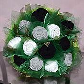 """Подарки к праздникам ручной работы. Ярмарка Мастеров - ручная работа Букет из носков """"зелень"""". Handmade."""