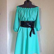 Одежда ручной работы. Ярмарка Мастеров - ручная работа Платье мятное , платье куколка большого размера, летнее платье. Handmade.