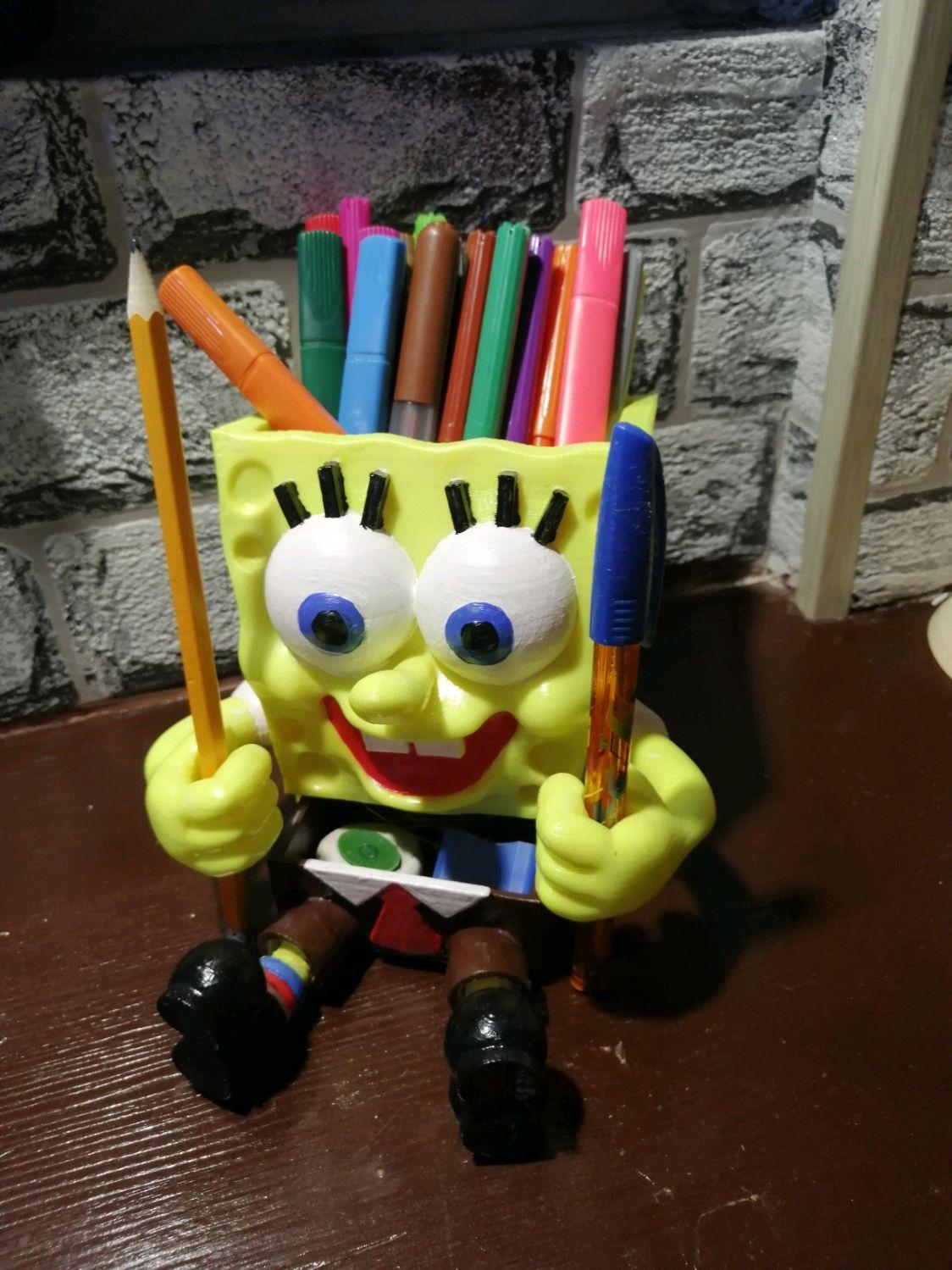 Губка боб подставка жля карандашей и ручек, Настольные органайзеры, Ижевск,  Фото №1