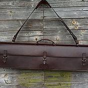 Сумки и аксессуары handmade. Livemaster - original item Double-sided gun bag for 3 units, Buttero Alkantara. Handmade.