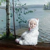 """Куклы и игрушки ручной работы. Ярмарка Мастеров - ручная работа Тедди-долл """"мишка-беляночка"""". Handmade."""