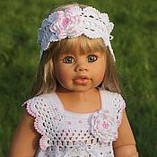 Работы для детей, handmade. Livemaster - original item christening set for girl dress bandage. Handmade.