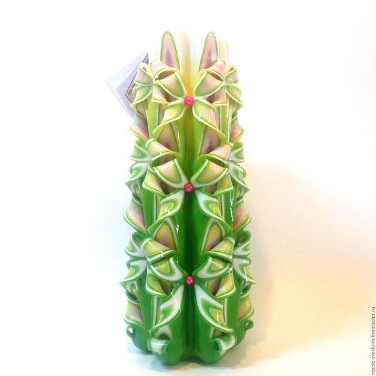 Свечи ручной работы. Ярмарка Мастеров - ручная работа. Купить Резная свеча Весна... Весна! (арт.407). Handmade.