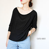 Одежда handmade. Livemaster - original item Jacket black knit women`s. Handmade.