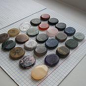 Фен-шуй и эзотерика ручной работы. Ярмарка Мастеров - ручная работа Кулон из плашки камня  с руной. Handmade.