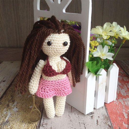 Человечки ручной работы. Ярмарка Мастеров - ручная работа. Купить Куколка. Handmade. Розовый, игрушка, вязаная куколка