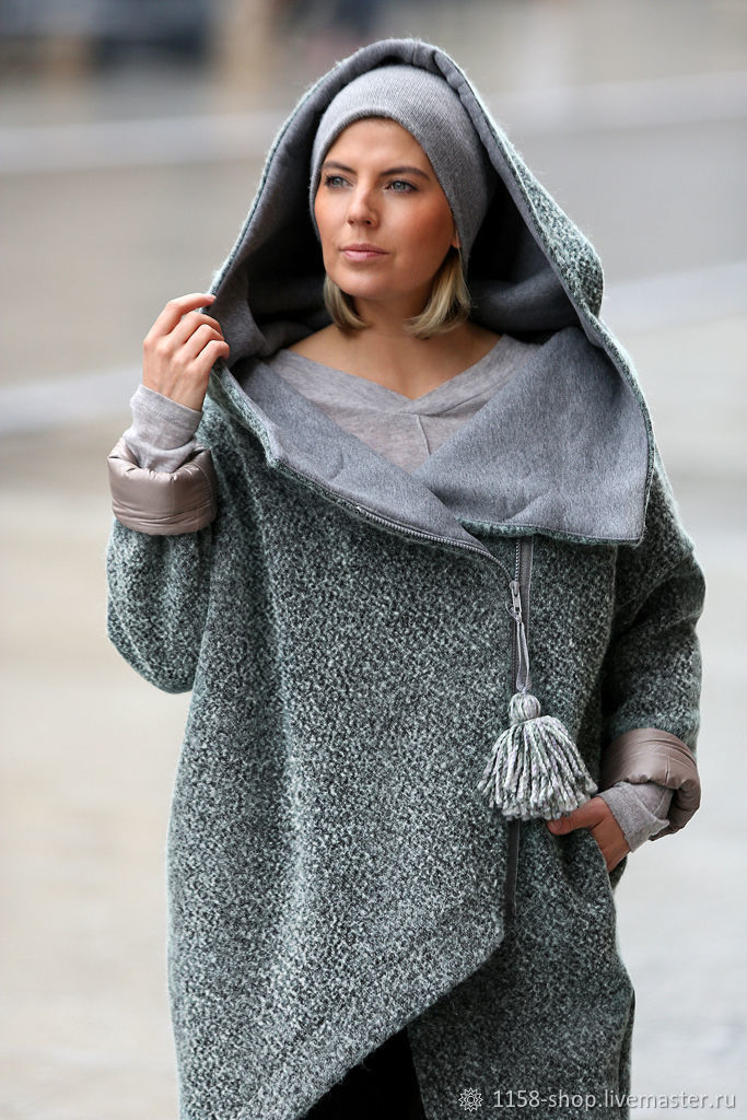 ed3ab1075867 Ярмарка Мастеров - ручная работа. Купить Зимнее пальто с капюшоном · Верхняя  одежда ручной работы. Зимнее пальто с капюшоном №9. 1158-shop.