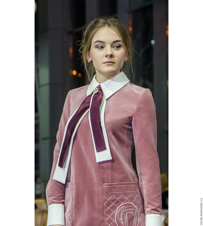 Платье бархатное. Розовое, Платья, Москва,  Фото №1