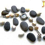 Украшения handmade. Livemaster - original item Bracelet with pearls and clock. Handmade.