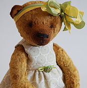 Куклы и игрушки ручной работы. Ярмарка Мастеров - ручная работа Hello Teddy 2016 - Лили, плюшевый медвежонок. Handmade.