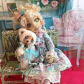 Куклы и игрушки ручной работы. Ярмарка Мастеров - ручная работа Мятная карамелька. Текстильная шарнирная куколка.. Handmade.