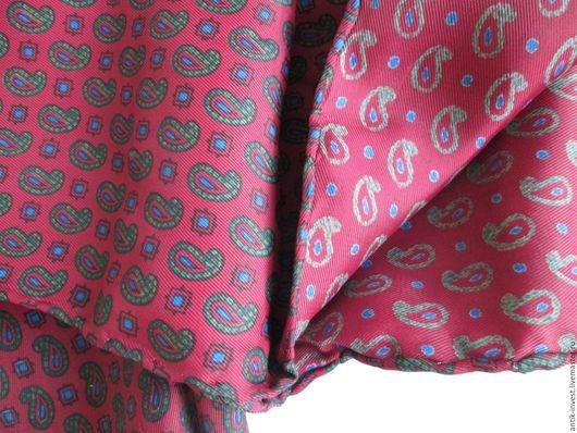 Шарфы и шарфики ручной работы. Ярмарка Мастеров - ручная работа. Купить мужское винтажное шелковое кашне ручной обработки 46 х 125 см. Handmade.