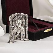 Подарки ручной работы. Ярмарка Мастеров - ручная работа Икона «Святой Николай» (средняя, серебро). Handmade.