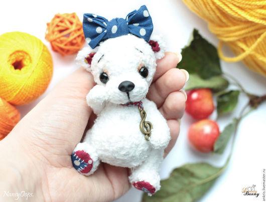 Мишки Тедди ручной работы. Ярмарка Мастеров - ручная работа. Купить белый мишка тедди Буся. Handmade. Белый, мишка