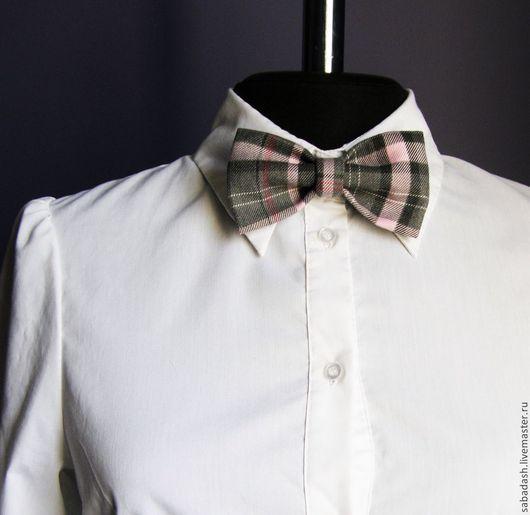 Галстуки, бабочки ручной работы. Ярмарка Мастеров - ручная работа. Купить Бабочка галстук. Handmade. В клеточку, бабочка-галстук