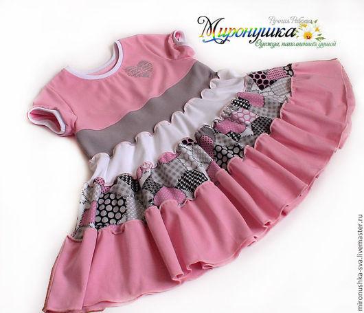 """Одежда для девочек, ручной работы. Ярмарка Мастеров - ручная работа. Купить Платье """"Сердце"""". Handmade. Розовый, пышная"""