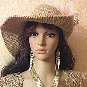 Аксессуары handmade. Livemaster - original item Hat knitted from jute.`` My lady``. Handmade.
