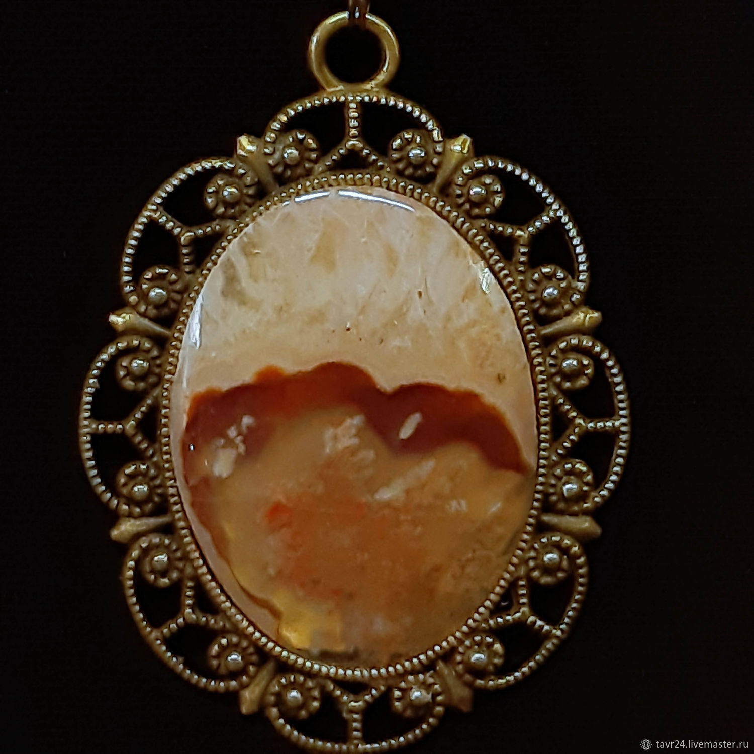 pendant No. 71. Chalcedony, an agate, agate Moholy, Pendant, St. Petersburg,  Фото №1